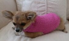 """7"""" Female/Unisex Hand Made Small Dog/Puppy/Tea Cup chihuahua Jumper/ Coat. DK"""
