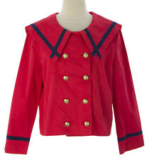 PRIORITIES Women's Red 3/4 Slv Cropped Sailor Jacket #41577 $98 NEW