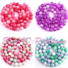 """6mm Smooth Round Shape Candy Jade Gemstone For DIY Jewelry Making Beads 15""""/Lot"""
