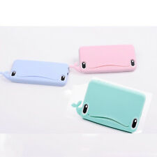 Cute Whale Silicone 3D Back Cover Card Holder Phone Cases  for iPhone 5 5s 1Pcs