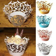 50pcs High Quality Filigree Love Paper Cupcake Wrapper Baking Muffin Cases Décor