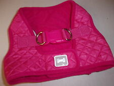 PINK  Puffy QUILTED Dog Body Harness Vest M Pup Crew new puppy pet medium