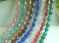 """fashion multicolor """"AB """" Water droplets crystal glass beads 8x6mm 12x8mm 10x15mm"""