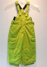 Quiksilver Boys/Kids Preschool Match Ins Snow Ski Winter Bib Pants Lime NEW