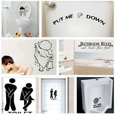 Quality Bathroom Toilet Decoration Seat Art Wall Stickers Decal Home Decor BBY