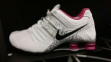Women's Nike Shox Current Running Shoes - White/Pink