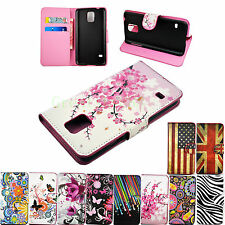 Stand Wallet Flip PU Leather Phone Cover Case For Samsung Galaxy S5 S4 S3 Mini