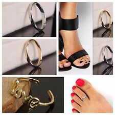 New Women Lady Fashion Silver Gold Metal Toe Ring Foot Beach Jewelry Adjustable