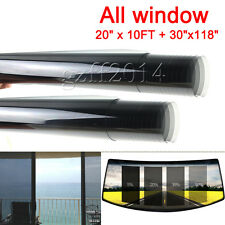 "2PLY All Windows 20"" x 3 m +30""x 3m Car Window TINT TINTING Film Vinyl Roll sets"