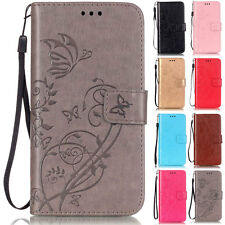 Butterflies Wallet Leather Flip Case Cover For Samsung Galaxy S2/S3/S4/S5/G800