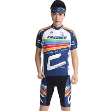 Breathable Men Bike Riding Short Sleeve Outfits Clothes Cycling Jersey Short Set