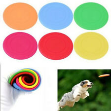 New Pet Dog Silicone Flying Disc Tooth Resistant Training Toy Play Frisbee Tide