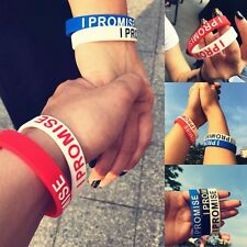 I PROMISE Printed Silicone Wristband Sport Celebrity Bracelet Fashion Cool