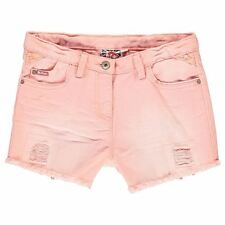 Lee Cooper Childrens Coloured Denim Shorts Girls Zip Trousers Bottoms Clothing