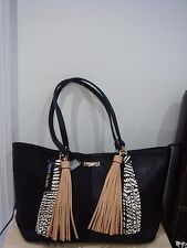 River Island Black double tassel Tote bag BNWT.