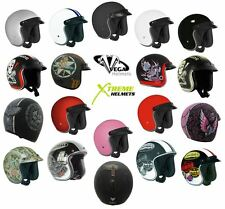 VEGA X-380 Helmet 3/4 Open Face DOT XS S M L XL 2XL Motorcycle Scooter ATV