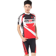 Sport Cycling Bike Short Sleeve Clothing Bicycle Set Suit Jersey Short Quick Dry