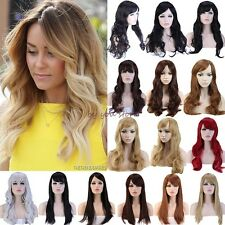 Long Curly Straight Full Head Wigs Cosplay Party Daily Fancy Dress Fashion Lady