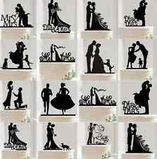 Wedding Cake Topper Insert Card Love Groom And Bride Acrylic Cake Decoration