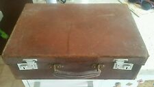 1950's Vintage Hard Case Brown Suitcase..small