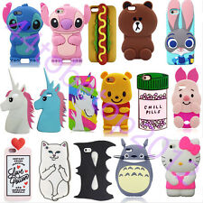 New 3D Cartoon Disney Soft Silicone Rubber Case Cover For iPhone & Samsung & LG