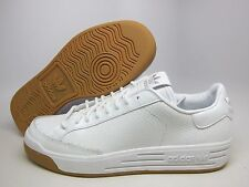 Adidas Rod Laver Lux Leather Mens Shoes White/Gum #D74108 NIB Sneakers Trainers