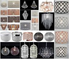 Chandelier Style Ceiling Light Shade Droplet Pendant Acrylic Crystal Bead Luxury