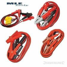 Jump leads 200 400 600A Heavy duty Surge protected automotive car Silverline