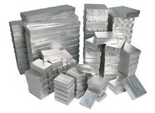 New 100 Silver Cotton Filled Jewelry Gift Boxes ~ assortment