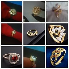 SHIP USA Size 7 Romantic Wedding Lover Gift Women Lady's Rings 18K Gold Plated