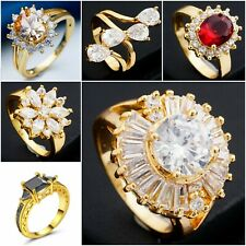 USA - Size # 8 Romantic Wedding Lover Gift Women Lady's Rings 18K Gold Plated,