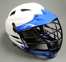 NEW Cascade Lacrosse Custom Color CRV-R Lax Helmet White/Royal Blue