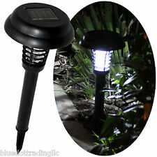 Solar Pathway Light & Bug Insect Zapper Killer in One, LED & UV, Choose Lot Size