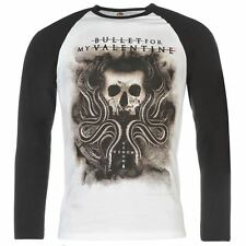 Official Mens Gents Bullet for My Valentine Raglan Top Crew Long Sleeve Clothing