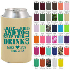 Personalized custom can koozies wedding favor Coolies quick turnaround (1466)