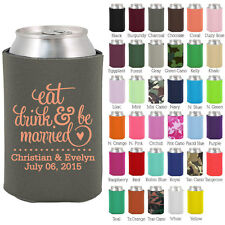 Personalized custom can koozies wedding favor Coolies quick turnaround (1562)