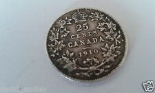 (Ref 17) King Edward VII Canada 25 cents coin 1910