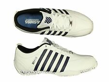 MENS TRAINERS K.SWISS ARVEE1.5 05060-182-M WHITE LACE UP LEATHER ALL SIZES 6-13