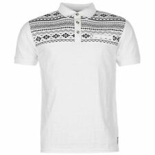 Lee Cooper Gents Mens Print Jersey Polo Shirt Short Sleeve Collar Top