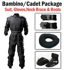 Black Kart CIK Level 2 SUIT BOOTS GLOVES Package BAMBINO / CADET / JUNIOR