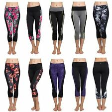 New Women Workout Sports Gym Yoga Running Fitness Stretch Leggings Cropped Pants
