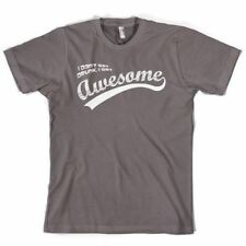 """""""I Don't Get Drunk, I Get Awesome"""" Funny Beer Graphic Retro Grey T-Shirt S-XXXL"""