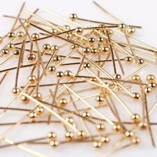 1000/5000pcs Hotsale KC Golden Charms Copper Ball Head Pins Jewelry DIY 5 Sizes