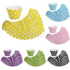 20pcs Bright Colors Polka Dot Cupcake Wrapper Muffin Cases Wedding Party Favor