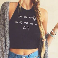 Womens Strappy Halter Neck Tank Top T-shirt Vest Summer Sexy Blouse Crop Tops