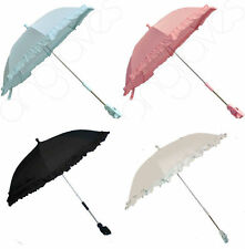 New Baby Sun Parasol Umbrella Canopy Pram Pushchair Buggy  White Blue Pink Black