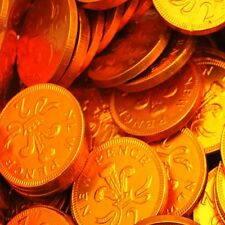 Milk Chocolate 2p Copper Foiled Covered Money Coins Sweets Quantity 10 - 150