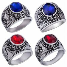 7-15 United Sates Army Military Navy Airforce Marines Veteran Ring Retro Vintage