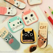 Cat cartoon magnetic bookmarks 2pc cute gift bookmate kawaii planner page marker