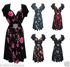 NEW WOMANS LADIES CONTRAST FLATTERING EVENING CHRISTMAS PARTY HOLIDAY DRESS
